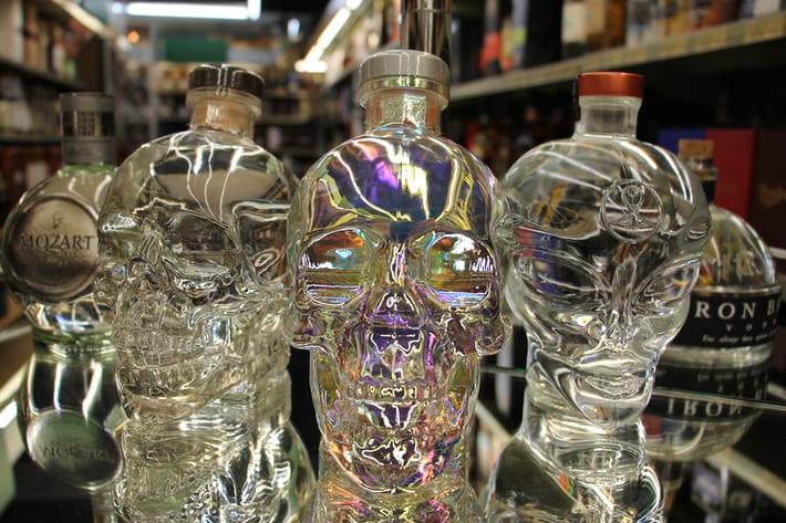 Guter Vodka in ausgefallenen Flaschen